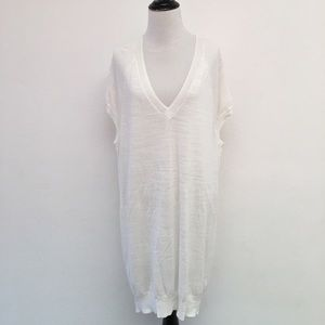 New All Saints Balance Dress Knit White Size Small